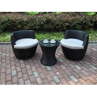 JB Patio 3 Piece Conversation Set with Cushions