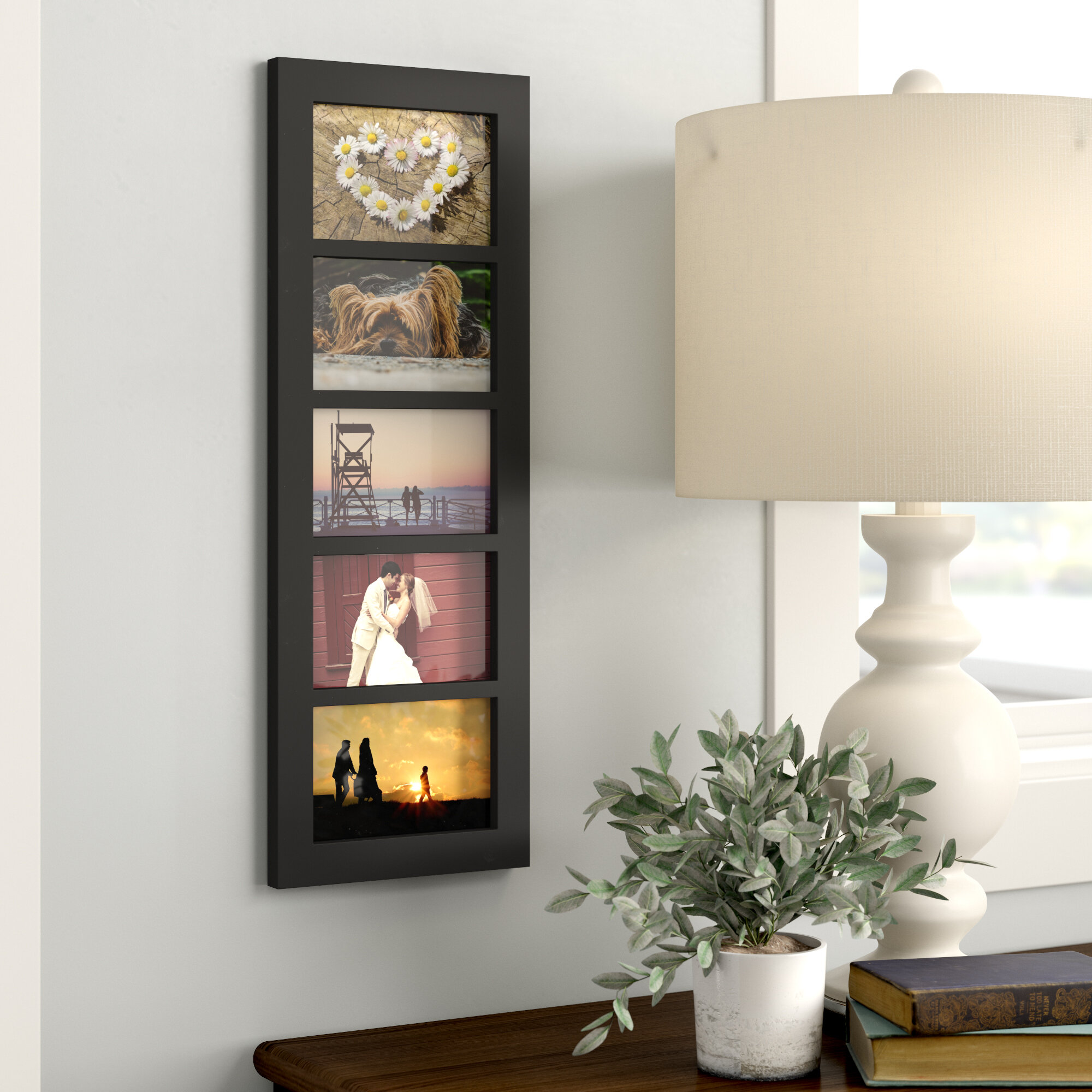 Wood Photo Collage Wall Hanging