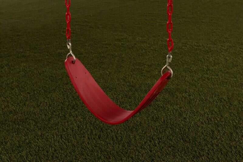 Plastic Belt Swing Seat with Chains