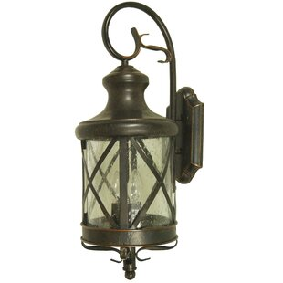 August Grove Moorhouse 2-Light Outdoor Flush Mount