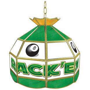 Trademark Global Rack'em Eight Ball Stained Glass Tiffany Lamp