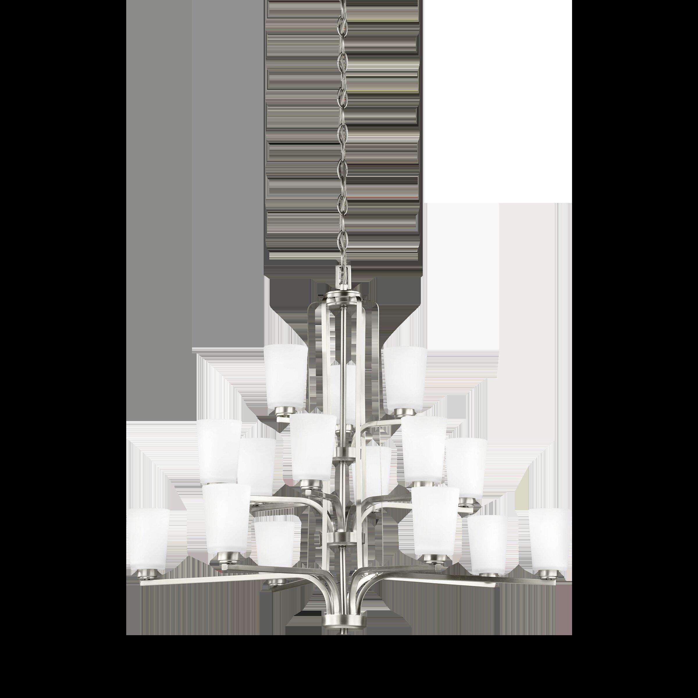Winston Porter Giana 15 Light Shaded Tiered Chandelier Wayfair