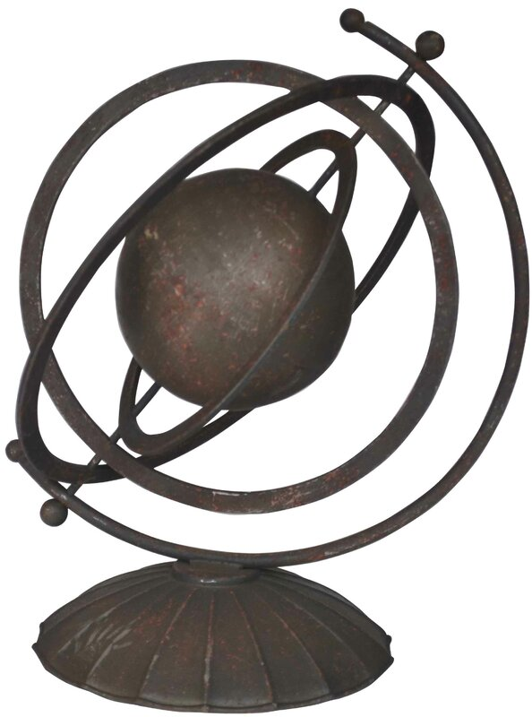 Metal Orb Sculpture