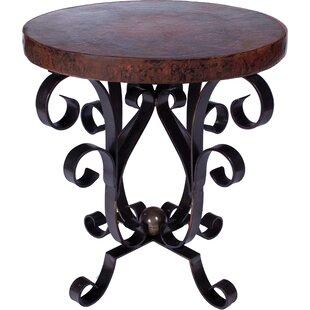 Novinger Iron Scroll End Table by Fleur D..