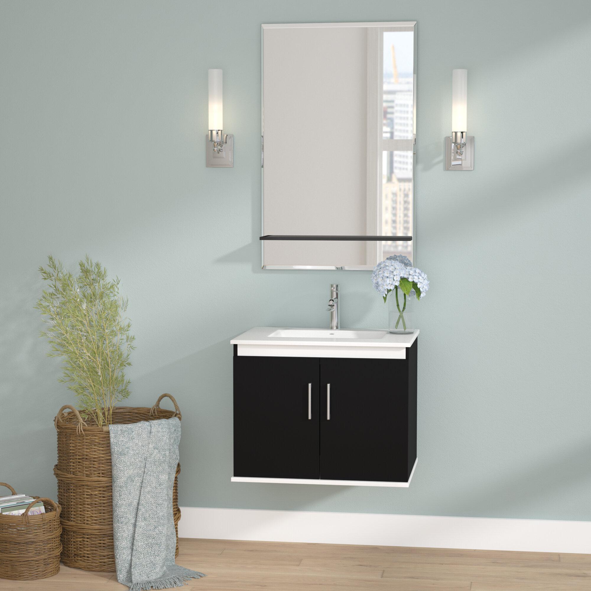 Wade Logan Brizendine 24 Single Vanity Set With Mirror Wayfair