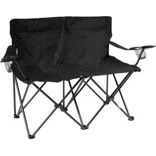 Trademark Innovations Loveseat Folding Camping Bench