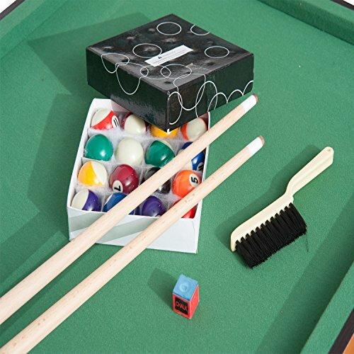 HomCom Folding Miniature Billiards Pool Table Reviews Wayfair - Play pool table near me