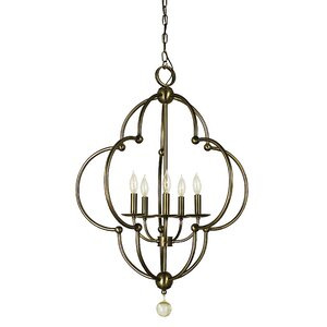 Quatrefoil 5-Light Foyer Pendant