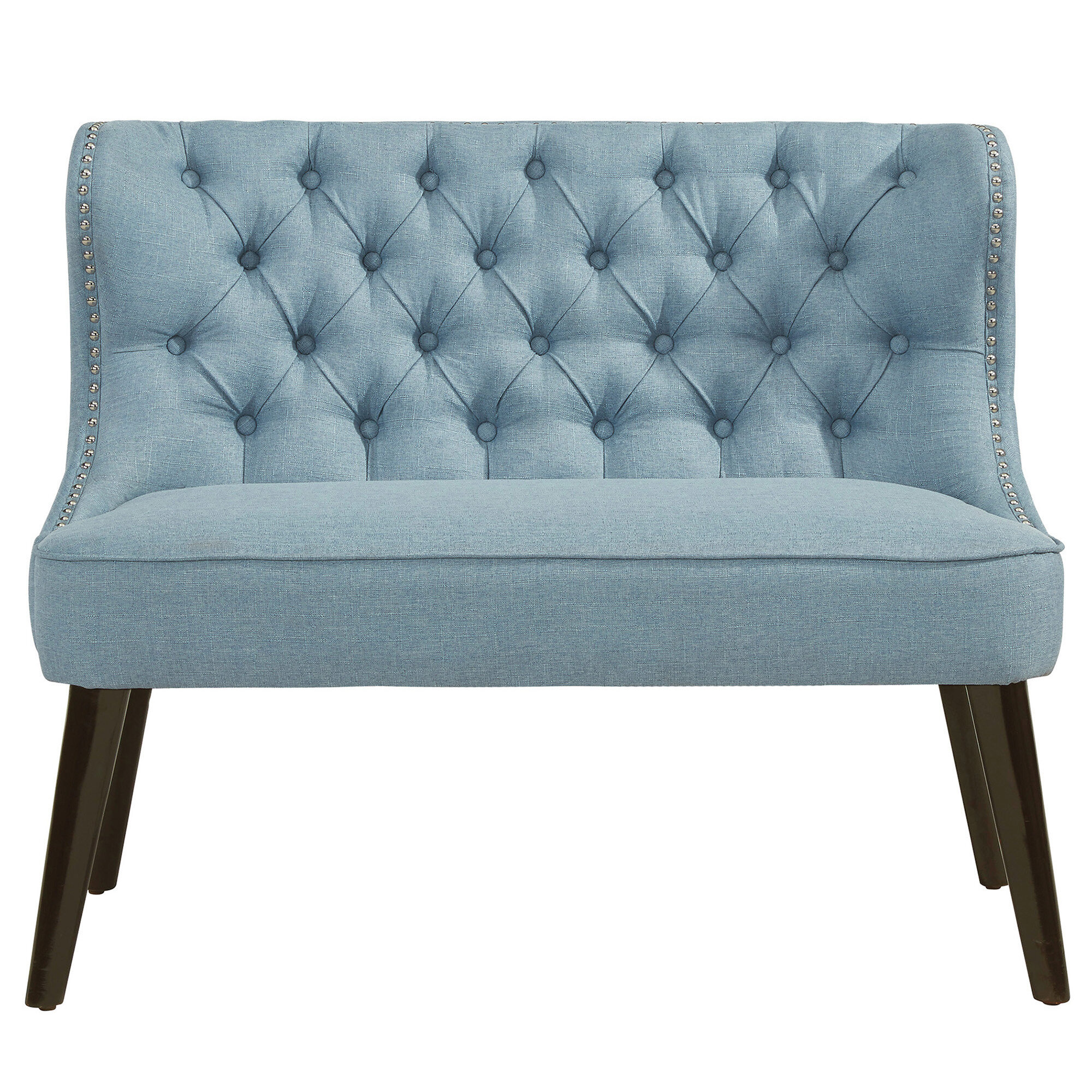 Willa Arlo Interiors Aguayo Tufted Wing Back Settee Bench & Reviews ...