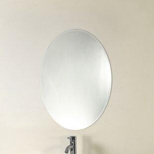 Great Price Farrer Frameless Wall Mirror ByCharlton Home