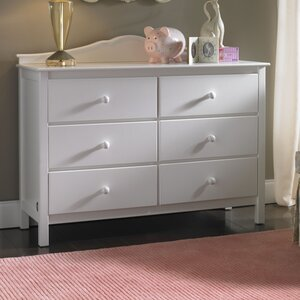 RTA 6 Drawer Double Dresser