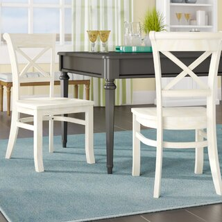 Wembley Solid Wood Dining Chair (Set of 2) by Beachcrest Home SKU:BC677360 Description