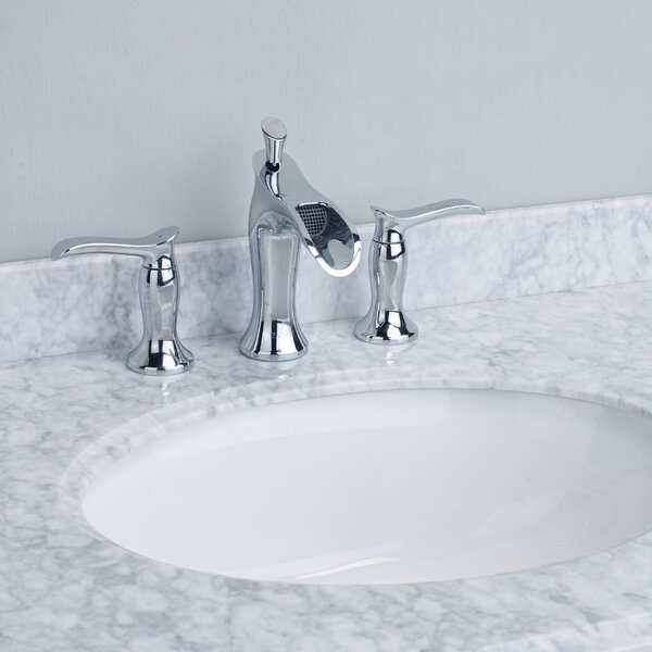 Eviva Swan® Deck Mount Widespread Waterfall Bathroom Faucet ...