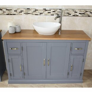 Solid Beech Navona 1230mm Free-standing Single Vanity By August Grove