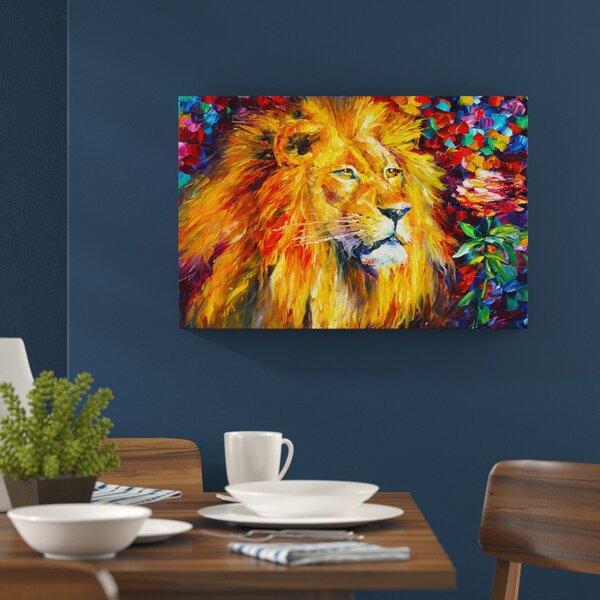 Hokku Designs African Lion By Leonid Afremov Painting
