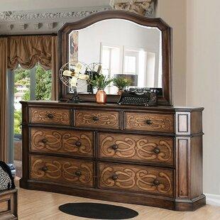 Astoria Grand Gaskin 7 Drawer Double Dresser