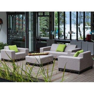 Reay 4 Piece Sunbrella Sofa Seating Group by Orren Ellis