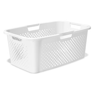 Pixel Plastic Laundry Basket By Rotho