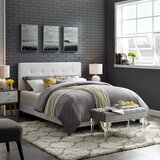 Mei Tufted Upholstered Bed with Mattress by Andover Mills™