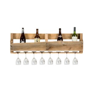 Malissa 8 Bottle Wall Mounted Wine Bottle Rack by Gracie Oaks