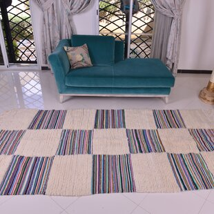 Best Choices One-of-a-Kind Fleeman Checker Handmade Kilim 5' x 6'7 Wool Off-White/Gray Area Rug By Isabelline