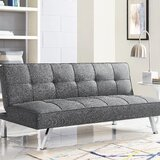 Twin 66.1 Tufted Back Convertible Sofa by Serta Futons