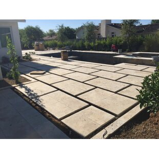 nysa tumbled travertine paver in tan - Patio Flooring