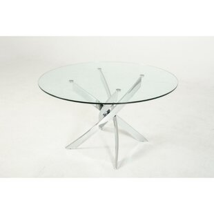 Clarita Round Glass Top Dining Table