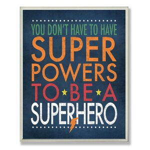 Stella Superhero Wall Plaque