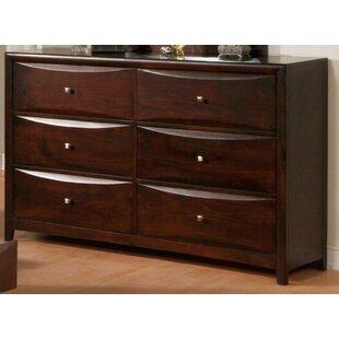 Hutchison 6 Drawer Double Dresser by Ebern Designs