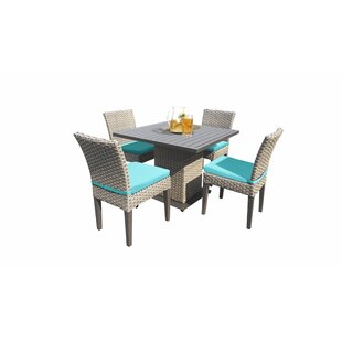 Rockport 5 Piece Dining Set With Cushions by Sol 72 Outdoor Great Reviews