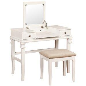 Wonderful 2 Piece Colleen Vanity U0026 Stool Set