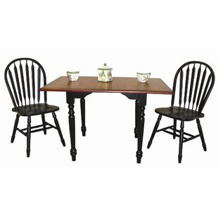 Lozano 3 Piece Drop Leaf Dining Set DarHome Co
