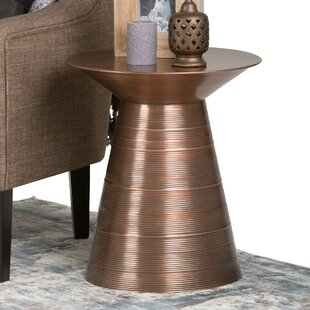 Celso Metal End Table by World..