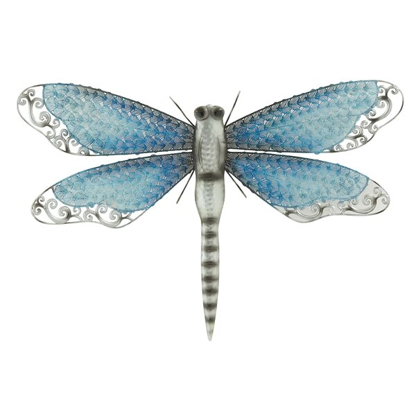 Dragonfly Wall Decor cole & grey metal dragonfly wall décor & reviews | wayfair