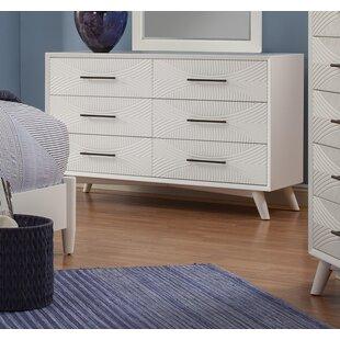 Brayden Studio Crowe 6 Drawer Dresser