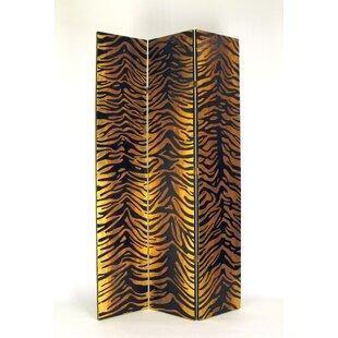 Bloomsbury Market Antionette Tiger Print 3 Panel Room Divider