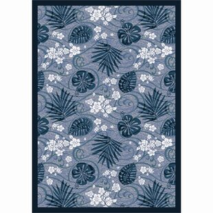 Savings Blue/White Area Rug By The Conestoga Trading Co.