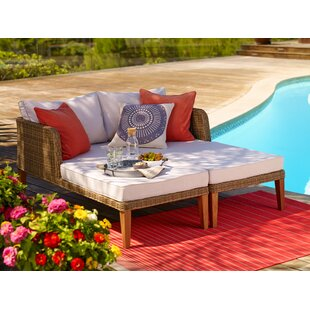 Corrigan Studio Crowley Outdoor Double Chaise Lounge