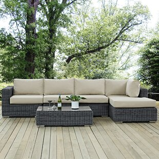 Keiran 5 Piece Sunbrella Sectional Set with Cushions by Brayden Studio