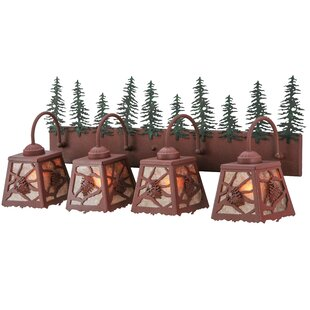 Meyda Tiffany Greenbriar Oak Spruce Pine 4-Light Vanity Light