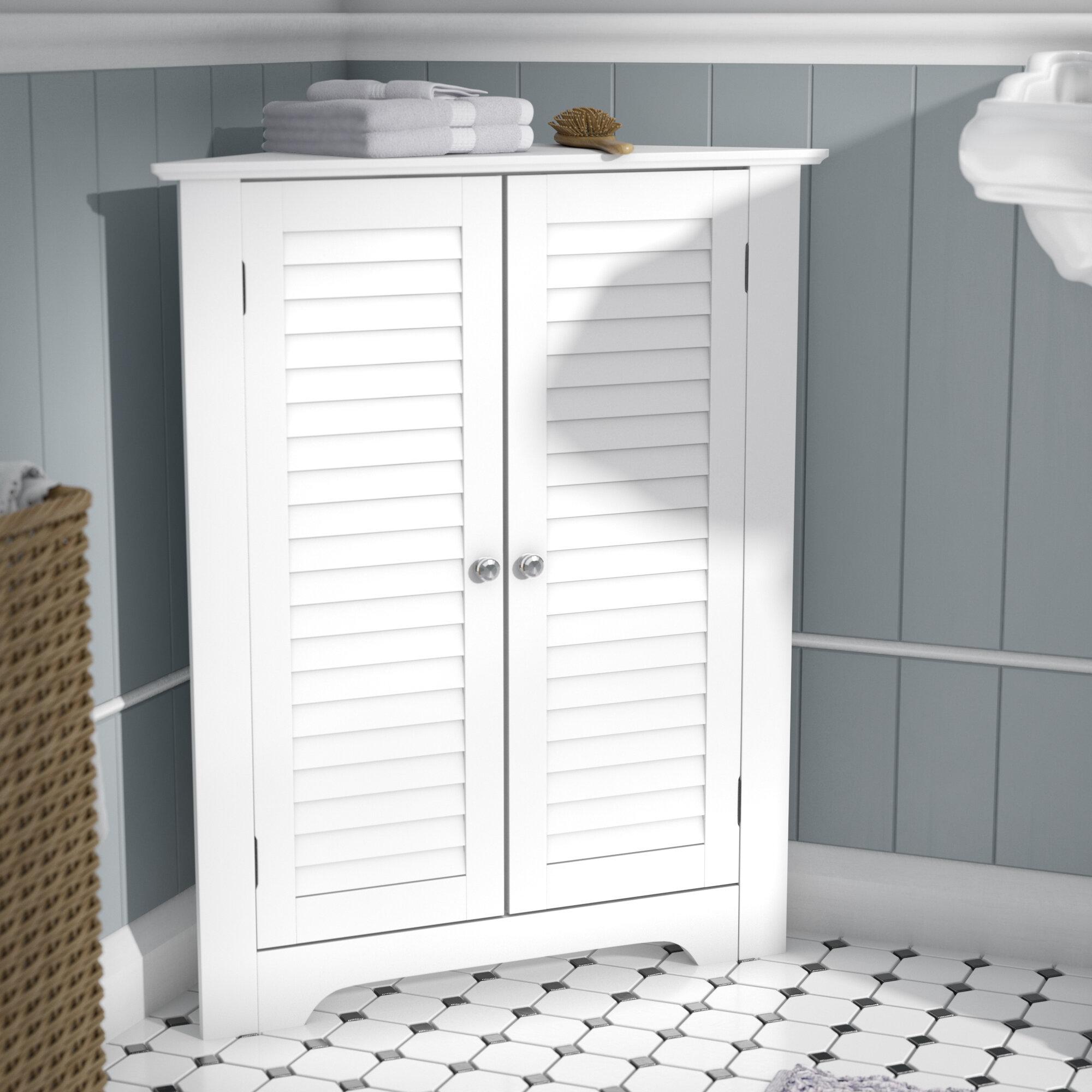 Three Posts Ellsworth 25 5 W X 31 25 H X 18 D Free Standing Bathroom Cabinet Reviews Wayfair