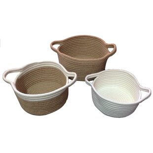 3 Piece Jute Basket Set