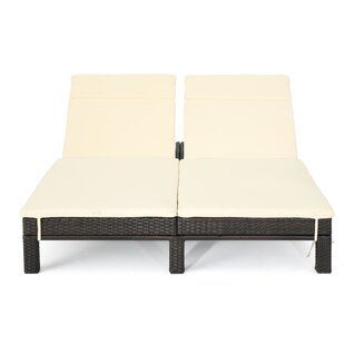 Exceptionnel Belleview Wicker Double Chaise Lounge With Cushion