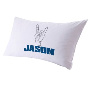 Personalized Rock It Pillow Case