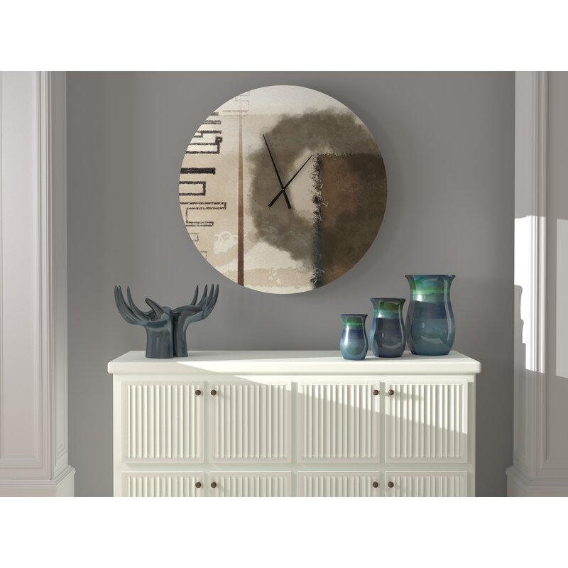 Latitude Run Kooky Hard Working Abstract Metal Wall Clock