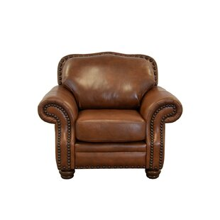 Westland and Birch Parker Genuine Top Grain Leather Club Chair