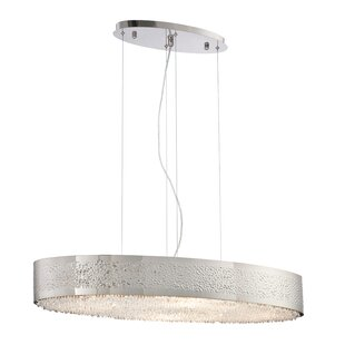 Bloomsbury Market Roesch Oval 8-Light Drum Pendant