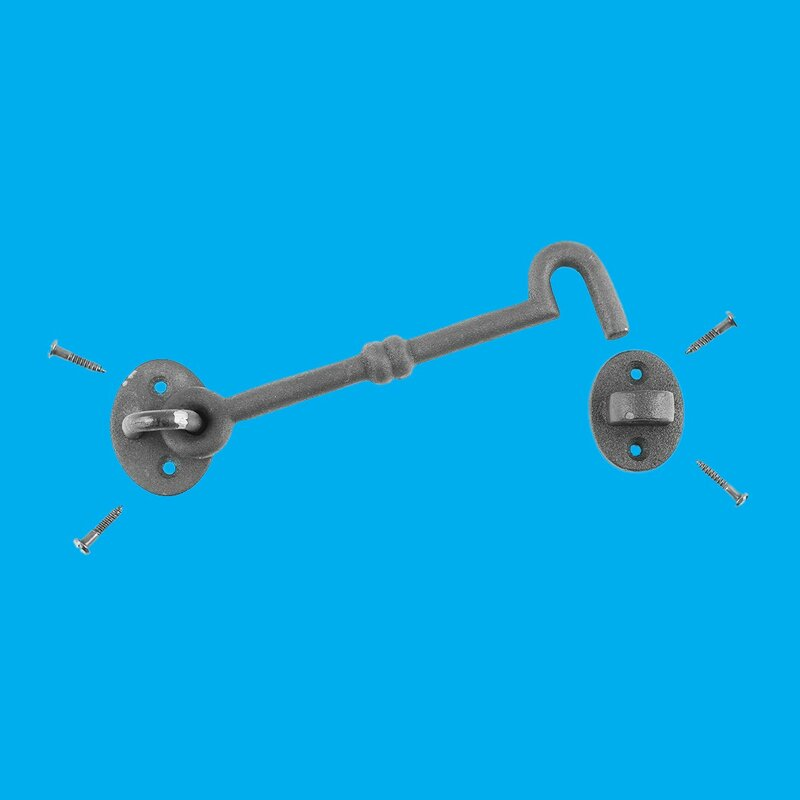 """8/"""" Hook and Eye Latch  Doors/&Gates- has surface rust"""