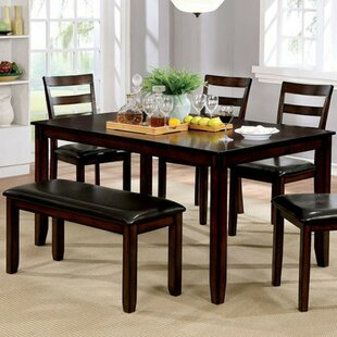 Dinius Wooden 6 Piece Dining Set